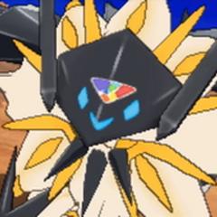 Solgaleo forma Necrozma en combate.