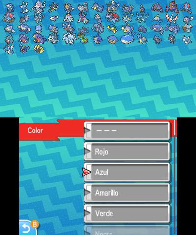 Imagen - Función clasificar Pokémon por color en SL.png | WikiDex ...