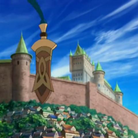 Castillo en lo alto del pueblo