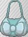 Bolso con lazo azul claro
