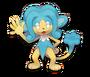 Simipour Pokémon Mundo Megamisterioso