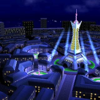 Torre Prisma, escenario de combate para la versión de Nintendo 3DS.