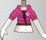 Cazadora con capucha rosa