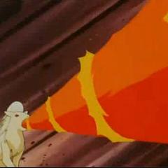 Ninetales de blaine usando giro fuego