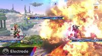 Electrode usando explosión SSB4 Wii U