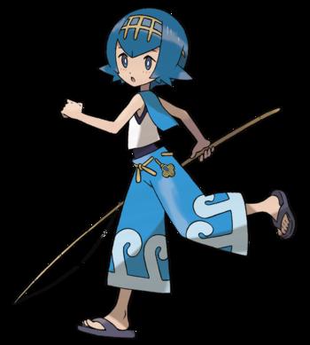 """Ilustración de Nereida en <a href=""""/wiki/Pok%C3%A9mon_Sol_y_Pok%C3%A9mon_Luna"""" title=""""Pokémon Sol y Pokémon Luna"""">Pokémon Sol y Pokémon Luna</a>"""