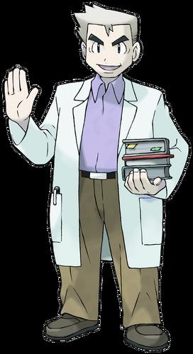 """Profesor Oak en <a href=""""/wiki/Pok%C3%A9mon_Rojo_Fuego_y_Verde_Hoja"""" title=""""Pokémon Rojo Fuego y Verde Hoja"""" class=""""mw-redirect"""">Pokémon Rojo Fuego y Verde Hoja</a>"""