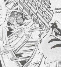 PMS020 Vileplume usando Danza pétalo contra el Pikachu de Red