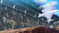 EP1114 Dragonite usando Danza dragón contra Mienshao