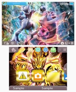 Tema 3DS Pokémon Mega-Mewtwo y Evolución TURBO