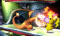 Charizard usando colmillo ígneo SSB4 3DS