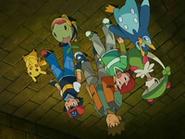 EP529 Ash, Brock y Kenny