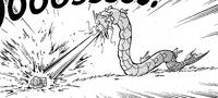 Gyara usando Hidrobomba contra Bulbasaur