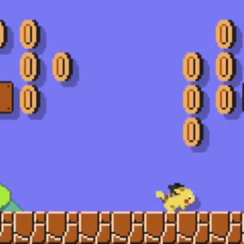 Sprite de Pikachu en <i>Super Mario Maker</i>