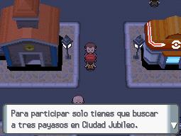 Señor del Poké-reloj en ciudad Jubileo en DP