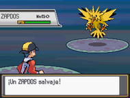 Vs Zapdos HGSS
