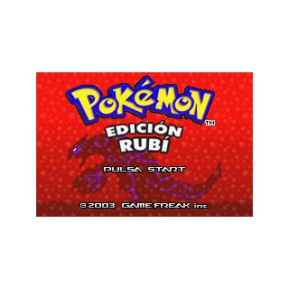 Pantalla de inicio de Pokémon Rubí.