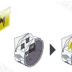 Pulsera Z y cristal Z.