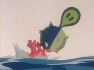 EP218 Qwilfish chocando contra Corsola