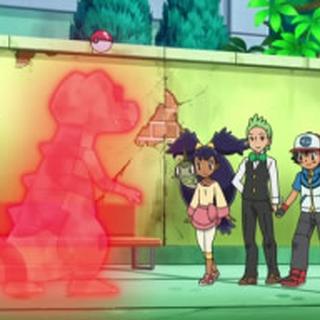 Ash capturando a Krokorok.