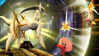 Arceus atacando SSB4 Wii U