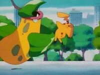 EP124 Victreebel de james usando doble filo