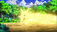 EP669 Pikachu de Ash usando Placaje eléctrico contra ash