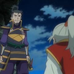 Kagetomo obligando ha cederle el puesto de jefe a <a href=