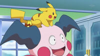 EP804 Mr.Mime junto a Pikachu
