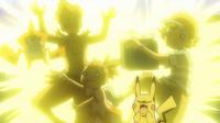 EP954 Pikachu usando rayo