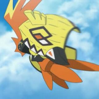 Tapu Koko sobrevolando <a href=