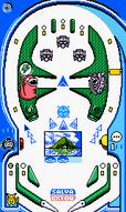 Tablero azul Pinball