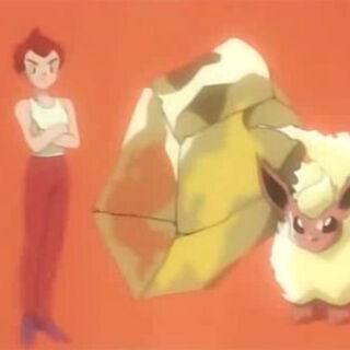 Primera aparición de una piedra fuego en el anime.