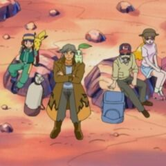 Junto al grupo de expedición.