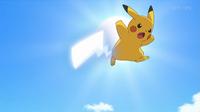 EP935 Pikachu usando cola férrea
