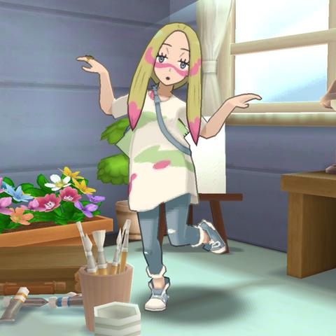Rika enseñando al jugador a ejecutar <a href=