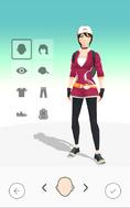 Pokémon GO Personalización del avatar (mujer)