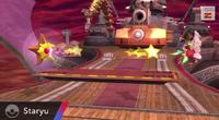 Staryu usando rapidez SSB4 Wii U
