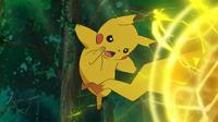 EP947 Pikachu usando bola voltio