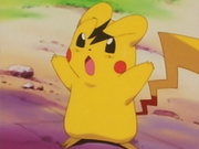 EP112 Pikachu imitando a Ash