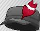 Pluma de adorno rojo
