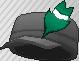 Pluma de adorno verde