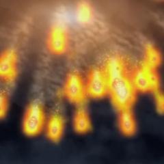 ...para dispersarla en el cielo usando cometa draco.