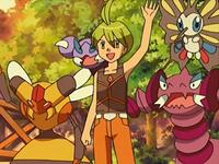 EP568 Alecrán junto a sus Pokémon
