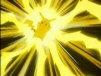 EP096 Pikachu usando impactrueno