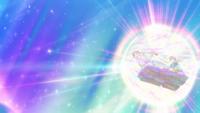 EP1003 Ninetales usando brillo mágico