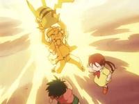EP132 Pikachu usando Rayo