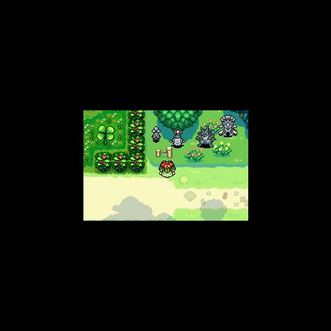 Estatuas de los Pokémon adelantados, entre ellos, Lucario.