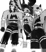 Las tres flamas del Equipo Magma