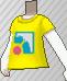 Camiseta con logotipo amarilla